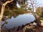 the calm tranquil estuary
