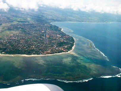 Sanur from the air