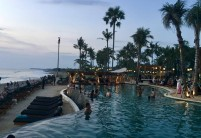 the pool at Finns Beach Club